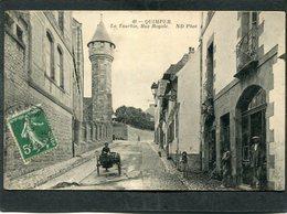 CPA - QUIMPER - La Tourbie, Rue Royale, Animé - Quimper