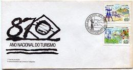 BRASIL 1987 FDC ANO NACIONAL DO TURIMO - NTVG. - Gebruikt