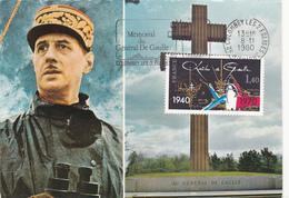 CPSM Et FLAMME De 1980 COLOMBEY LES 2 EGLISES + Mémorial Du Général DE GAULLE - A Voir 2 Scans - EMA (Print Machine)