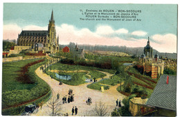 CPA 76 ROUEN Bon Secours Eglise - Rouen