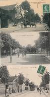 3 CPA:LA VARENNE (94) MERCERIE TRAMWAY AVENUE DE L'ALMA,PLACE DE LA GARE,VARENNE CHENNEVIÈRES RESTAURANT L'ÉCU DE FRANCE - France