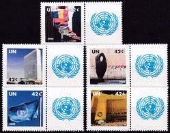 UNO-New York, 2008, 1091/95,  MNH **,  Grußmarken - New York -  VN Hauptquartier