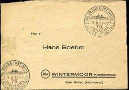 50645 Germany, Special Postmark 1952 Frankfurt Jubilaums Regatta,rowing Rudern Aviron - Rowing