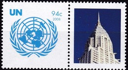 UNO-New York, 2008, 1096,  MNH **,  Grußmarken - New York -  VN Hauptquartier