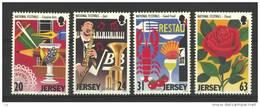 Jersey 1998 Yvertn° 814-817 *** MNH Cote 7 Euro Festivals - Jersey