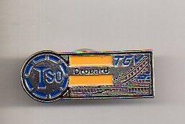 REF PC2 : Pin's Pin  : Theme Train Chemin De Fer  : TGV TSO DROUARD Variante 1 - TGV