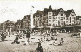 Knocke-Zoute. Le Strand. (carte Postale Avec Photo Cp Ancienne) - Knokke