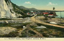 Rockfort Quarry Near Kingston Jamaica B.W.I.  Carrière . Hand Colored - Jamaïque