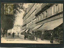 CPA - QUIMPER - L'Hôtel Du Parc Et Le Café De Bretagne, Animé - Automobile - Quimper