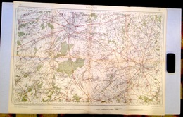 ©1864-65 LEUVEN STAFKAART TIENEN HERENT HEVERLEE KORTENBERG BERTEM DUISBURG HULDENBERG HOEGAARDEN BEAUVECHAIN S339 - Leuven