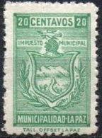 Bolivia 1960's **.H&A WA18. Impuesto Municipal La Paz. 20c. Verde Tall. Offset La Paz. - Bolivia