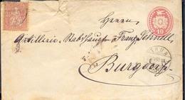 Suiza Año 1867 Yvert  51  Sobre Entero Postal Circulado A Burgdorf  Matasellos Thun 22-4-1869 - 1882-1906 Wappen, Stehende Helvetia & UPU