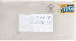""": Beau Timbre , Stamp  Yvert N°  3282 """" Emmaüs """" Sur Lettre , Cover , Mail Du 27/12/1999 - France"""