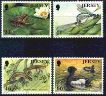 Jersey 2001 Yvertn° 979-982 *** MNH Cote 9  Euro Faune Flore - Jersey