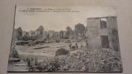 DONCHERY - Les Ruines De La Rue De La Gare. - Other Municipalities