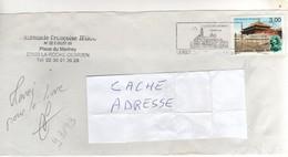 """: Beau Timbre , Stamp  Yvert N°  3173 """" Palais Impérial Beijing """" Sur Lettre , Cover , Mail Du 13/11/1998 - France"""
