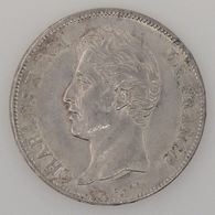 France, Charles X, 5 Francs 1827 L, TTB/SUP, KM# 728.8 - France