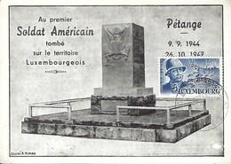 Luxembourg  -  Pétange  -  Au Premier Soldat Américain Tombé Sur Le Territoire Luxembourgeois - Cartes Postales
