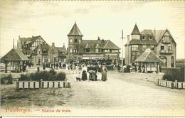 Duinbergen. Station Du Tram. (carte Postale Avec Photo Cp Ancienne) - Knokke