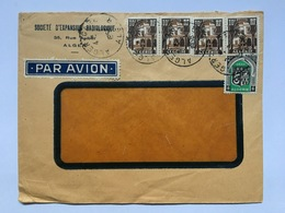 ALGERIA 1955 Commercial Air Mail Cover From Algiers - Algeria (1924-1962)
