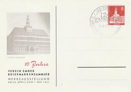 """Berlin / 1961 / Privatpostkarte """"Neues Rathaus"""" SSt. Emden (5163) - Berlin (West)"""