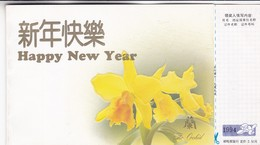 HAPPY NEW YEAR. THE ORCHID. CHINA ENTIRE 1994 NOT CIRCULATED. ENTERO ENTIER -LILHU - 1949 - ... République Populaire