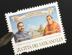Vatikan Cittá Del Vaticano 2019 Nr. 1966 100 Jahre Diplomatische Beziehung Polen  - Vatikan