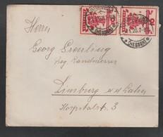 Deutsches Reich / 1919 / Mi. 107 MeF Auf Brief, Stempel Friedberg (5167) - Allemagne