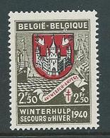 België 545V2 Met Cirkel Onder L Van Belgique - Varietà E Curiosità