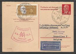 Aérophilatélie - DDR - Carte 1961 - Luftpost - Brüssel-Leipziger Messe - Rudolf Virchow - [6] Oost-Duitsland