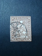 SVIZZERA 1854-1862 FRANCOBOLLO USATO N. 26 VAL. CAT. € 25,00 - 1854-1862 Helvetia (Ungezähnt)