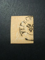 SVIZZERA 1854-1862 FRANCOBOLLO USATO N. 29 VAL. CAT. € 75,00 - 1854-1862 Helvetia (Ungezähnt)