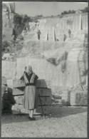 07 Ardèche Photo Chomerac Carrières De Marbre Basculage D'un Bloc 1955 - Sonstige Gemeinden