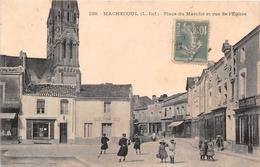 """¤¤   -   MACHECOUL   -   Place Du Marché Et Rue De L'Eglise  -  Le Café Du Centre  -  Commerce """" F. PRIN """"  -  ¤¤ - Machecoul"""