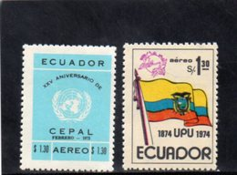 EQUATEUR 1973-4 ** - Ecuador