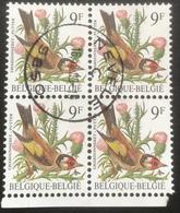 (17) OBP 2190 - Y 2187 - Vogels - Oiseaux - Putter - Chardonneret - 9 Fr - 1985 - Used - Nevele - 1985-.. Oiseaux (Buzin)