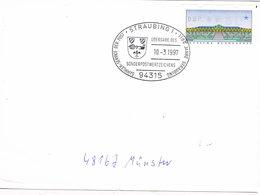 Deutschland Sonderstempel Straubing - Übergabe Der Briefmarke, Wappen, Coat Of Arms - [7] République Fédérale