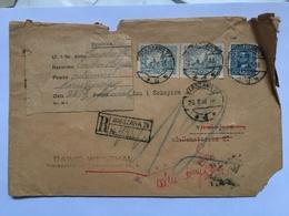 POLAND 1932 Registered Warsaw Cover Internal Returned With Various Cachets - 1919-1939 République