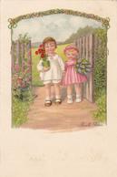 Pauli EBNER - Enfants Avec Fleurs - Ebner, Pauli