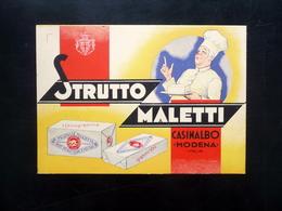 Cartolina Postale Fratelli Maletti Casinalbo Modena Strutto Pubblicità '900 - Publicité