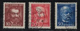 Suisse // Schweiz // Switzerland //  1907-1939  // 50 Ans De La Ligne Du Gothard No.191-193 Oblitéré - Suiza