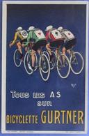 Cyclisme ; Carte Publicitaire Des Cycles Gurtner , Dessinée Par Mich, Parfait état - Cyclisme