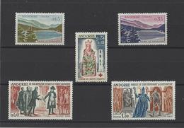 ANDORRE.  YT  N° 162-163-168-170-172  Neuf *  1963 - French Andorra