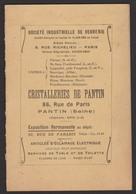 D 93 - PANTIN - Cristalleries De Pantin - Catalogue - Livres, BD, Revues