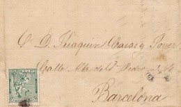 Año 1873 Edifil 133  10c Alegoria  Carta Matasellos Rombo Tarancon Cuenca.  Piratas De Cartagena. Membrete J.Carne RARA - Gebraucht