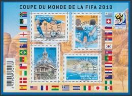 France - Coupe Du Monde De Football 2010  / Le Feuillet YT F4481 Obl. Cachet Rond Manuel - Blocs & Feuillets