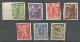 TP DALLEMAGNE BERLIN ZONE SOVIETIQUE N° 1/7 NEUFS SANS CHARNIERE - Zone Soviétique