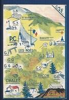 42 - LES NOËS -  CHANTIERS DE LA JEUNESSE FRANÇAISE - GUERRE 1939-45 - PLAN DES CAMPS- ST- RIRAND, ARCON, RENAISON... - France