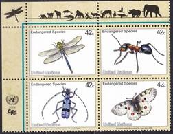 UNO-New York, 2009, 1137/40,  MNH **, Gefährdete Arten (XVII): Insekten Und Spinnentiere. - New-York - Siège De L'ONU