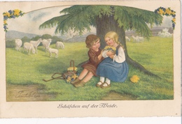 Pauli EBNER - Moutons En Pâturage - Ebner, Pauli